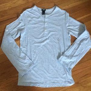 H&M Baby Blue Convertible 3/4 -long sleeve shirt